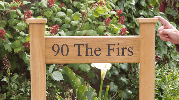 Solid Wooden Entrance Signs with Posts | The Sign Maker Shop